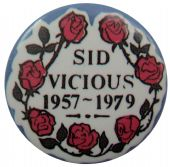 Sex Pistols - 'Sid Vicious 1957-1979' Button Badge